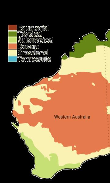 WA climate map