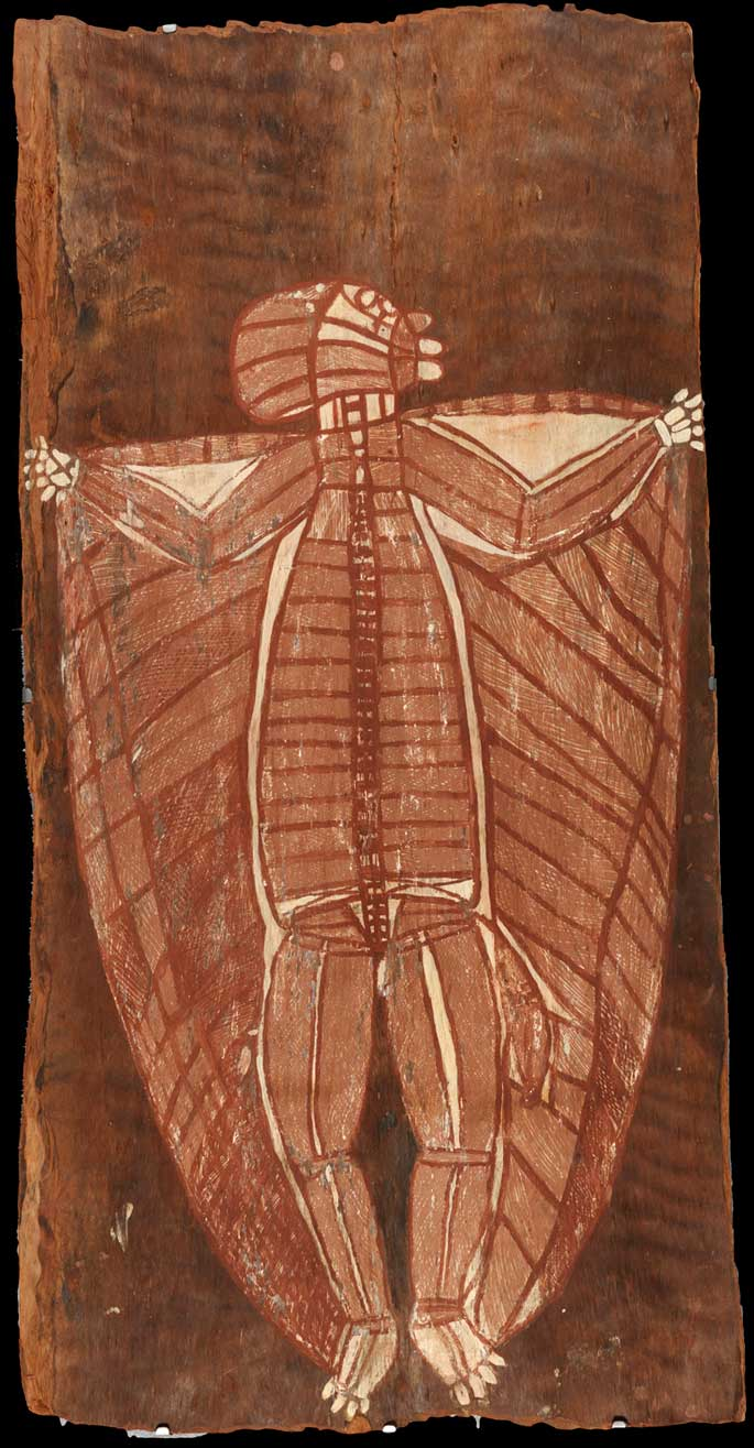 Bark painting from Baldwin Spencer expedition,                 1912
