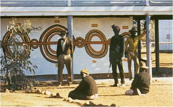 Elders painting Honey Ant Dreaming