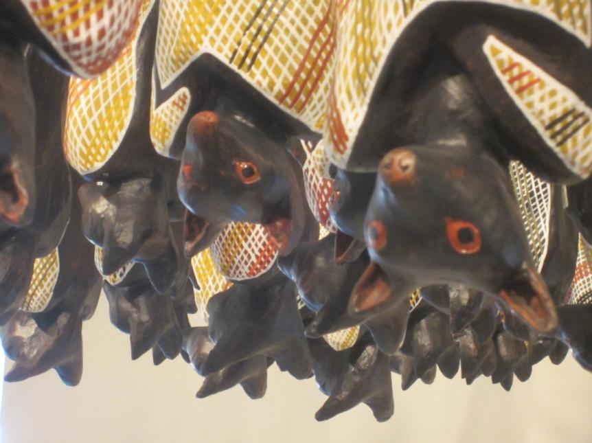 Lin Onus' Fruit Bats, detail