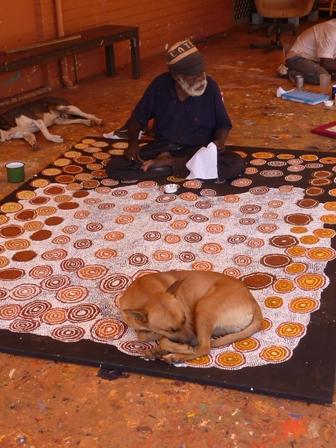 Paddy Japanangka at work