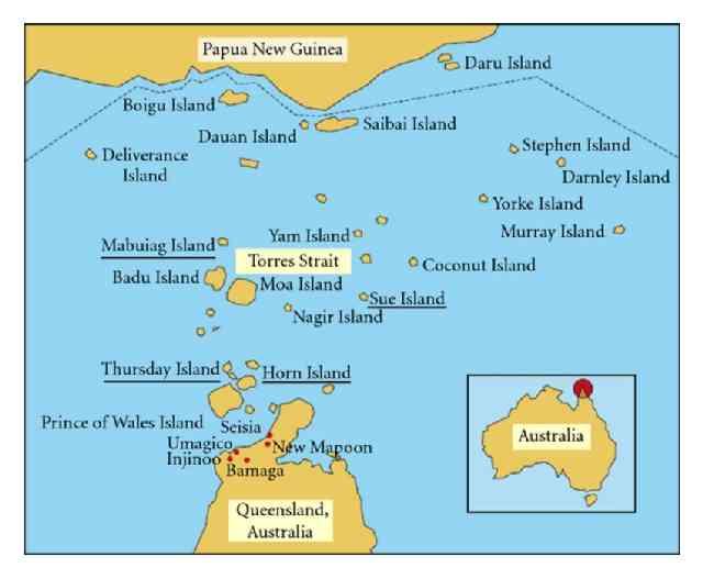 Torres Strait Island map